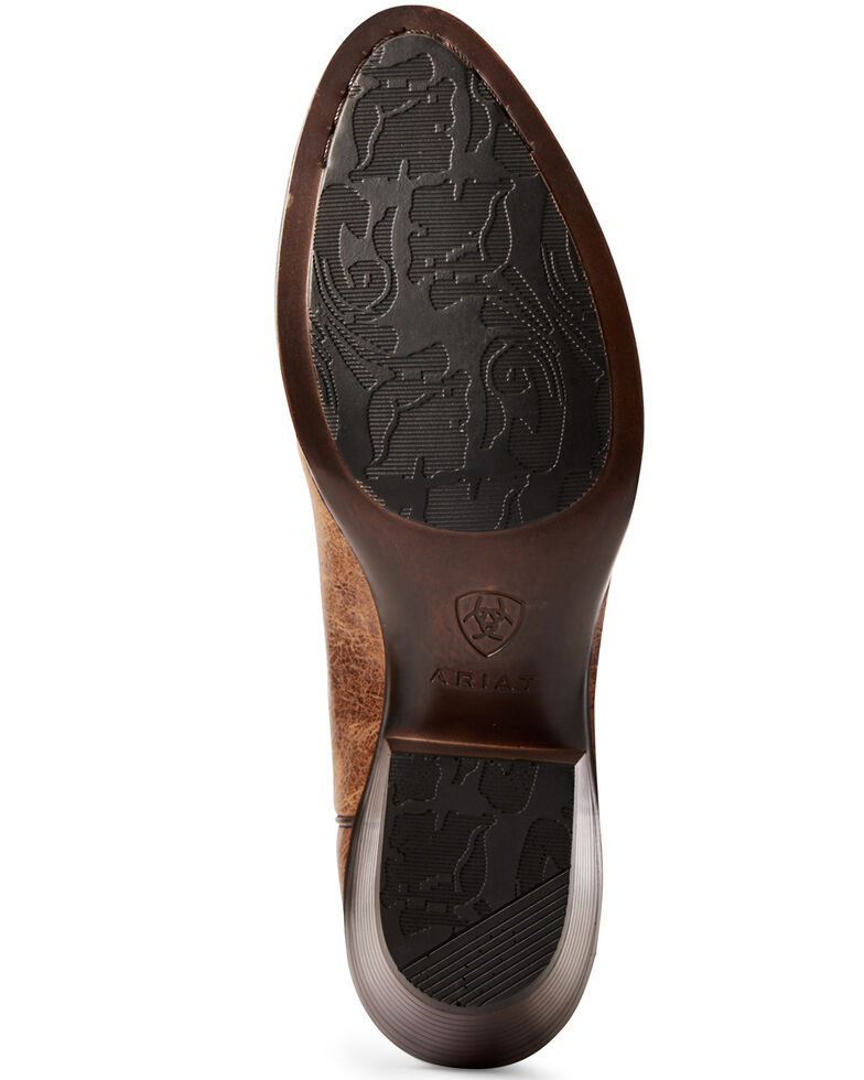 Ariat Women's Heritage Elastic Calf Western Boots - Round Toe, Brown, hi-res