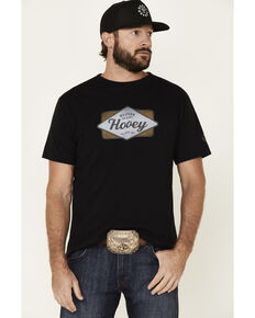 HOOey Men's Black Diamond Logo Graphic T-Shirt , Black, hi-res