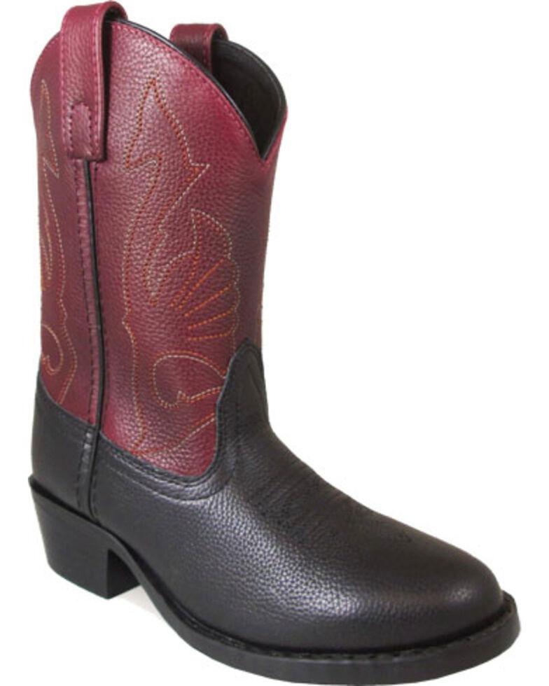 Smoky Mountain Girls' Black Cisco Western Boots - Round Toe , Black, hi-res