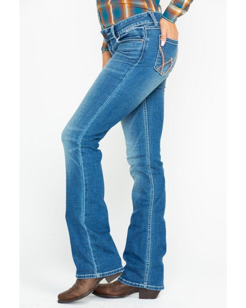 Wrangler Retro Women's Mae Mid Rise Deadwood Boot Jeans, Blue, hi-res