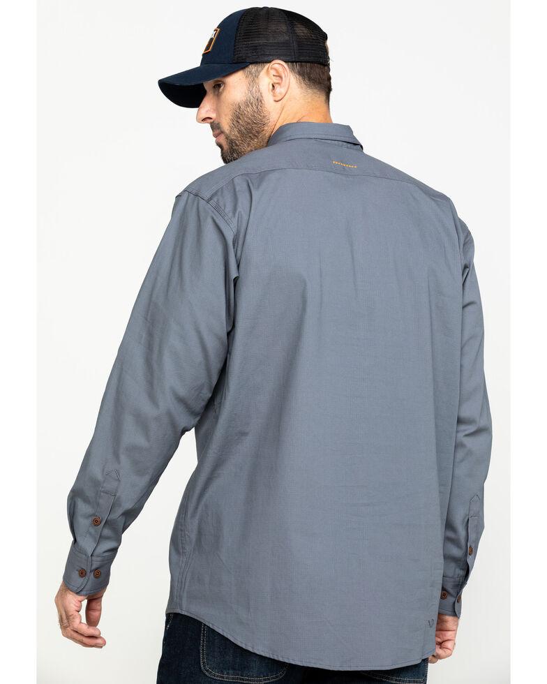 Ariat Men's Steel Rebar Made Tough Durastretch Long Sleeve Work Shirt , Steel, hi-res