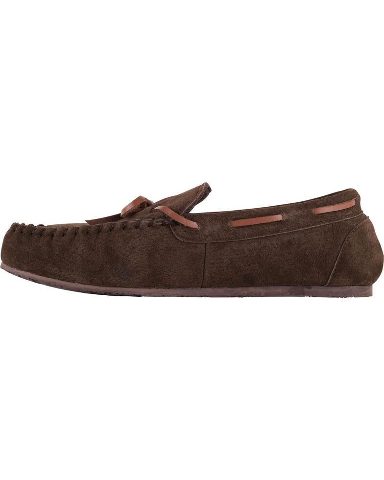 Lamo Footwear Men's Aiden Suede Lace Moccasins - Moc Toe, Chocolate, hi-res