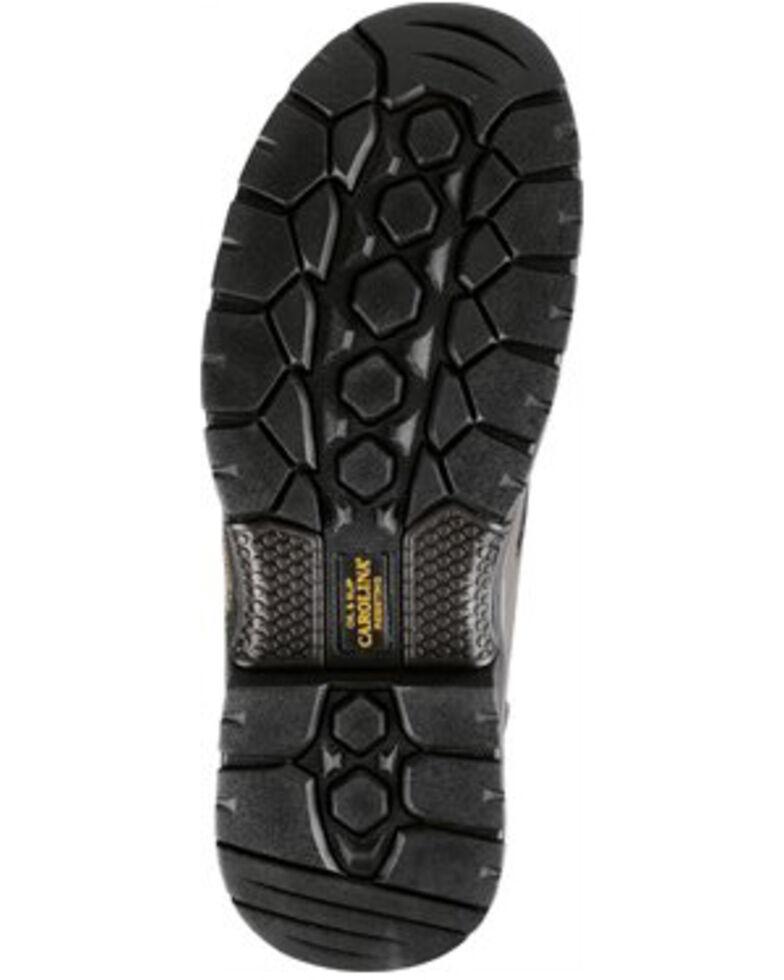 Carolina Men's Dark Brown ESD Oxford Shoe - Composite Toe, Dark Brown, hi-res