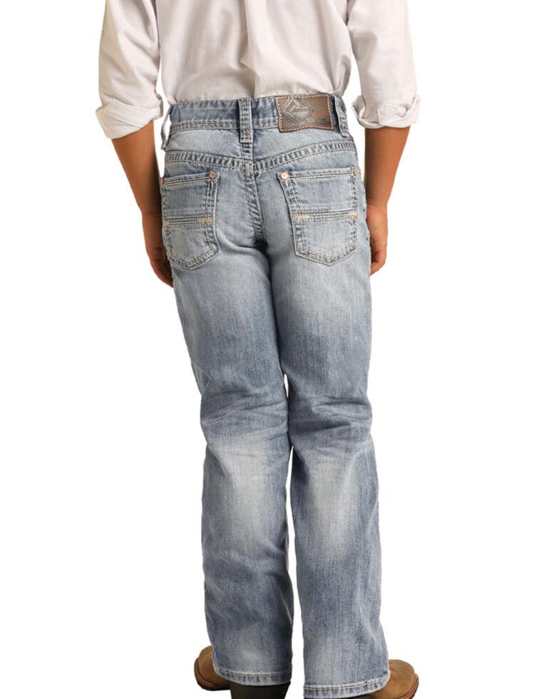 Rock & Roll Denim Boys' Light Reflex Stretch Bootcut Jeans, Blue, hi-res