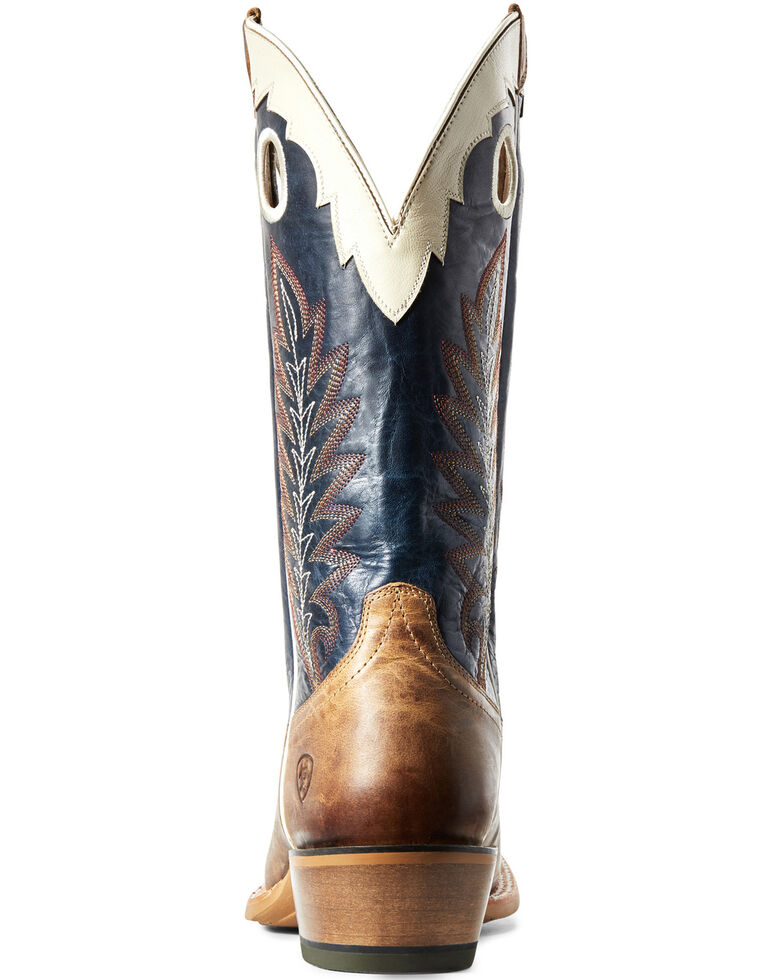 Ariat Men's Wildstock Real Deal Western Boots - Wide Square Toe, Brown, hi-res