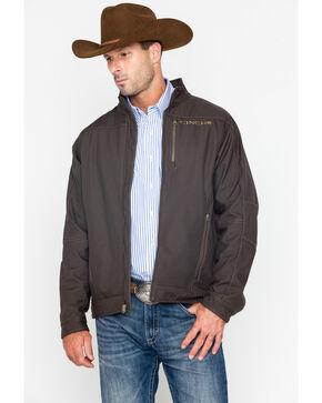 Cinch Men's Solid Bonded Fleece Lined Jacket, Brown, hi-res