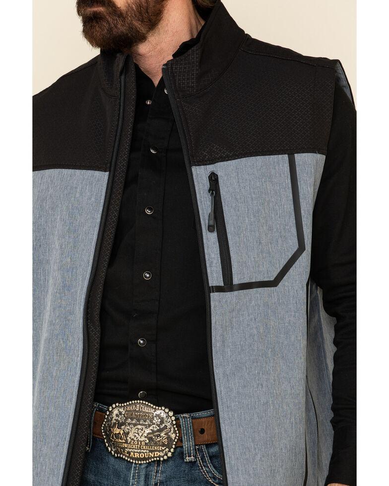 Cody James Core Men's Cascade Colorblock Zip-Front Softshell Vest, Blue, hi-res
