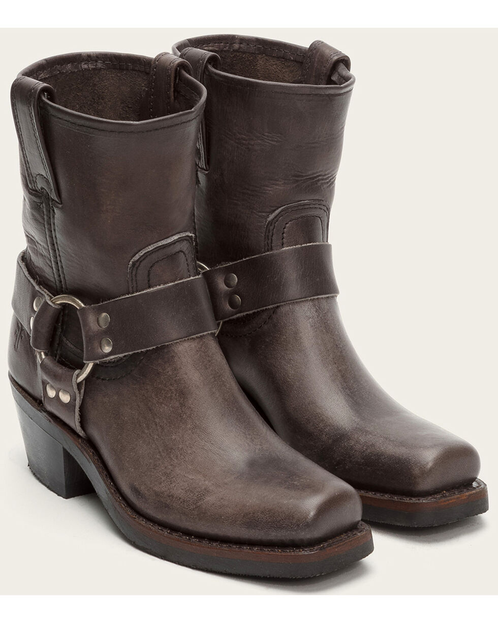 Frye Women's Harness 8R Booties - Square Toe , Grey, hi-res
