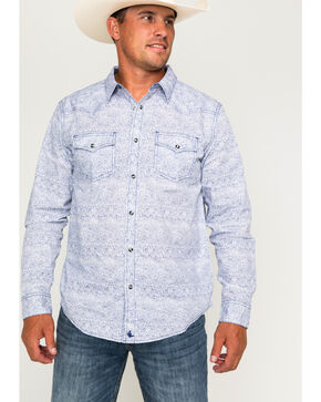 Cody James Men's Leo Long Sleeve Western Shirt, White, hi-res