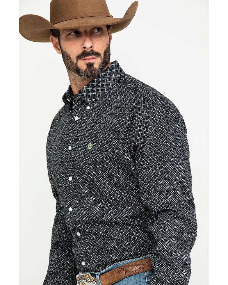 Cinch Men's Black Dot Geo Print Button Long Sleeve Western Shirt , , hi-res