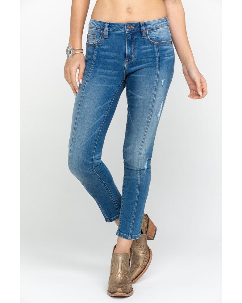 Miss Me Women's Light Wash Basic Skinny Jeans , Blue, hi-res