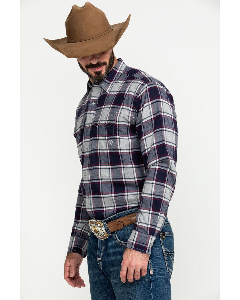 Ariat Men's Falkin Retro Plaid Snap Long Sleeve Flannel Shirt , Multi, hi-res