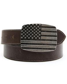 Cody James Men's Brown Stars & Stripes Western Belt, Brown, hi-res