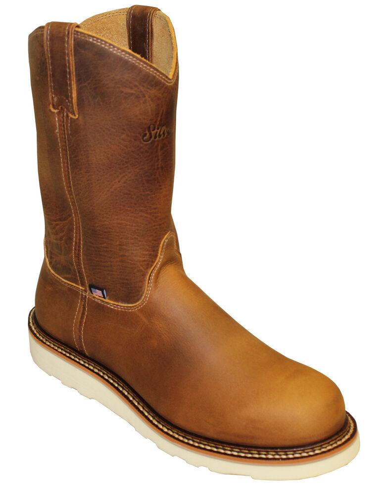 Silverado Men's Shipyard Western Work Boots - Steel Toe, Tan, hi-res