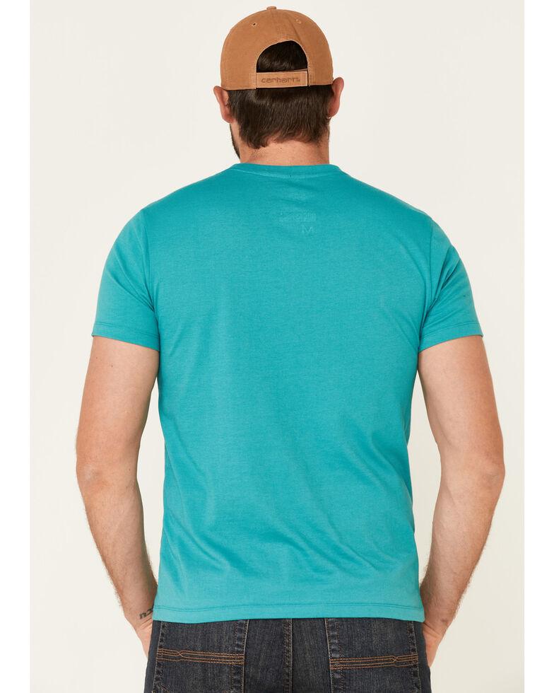 Dale Brisby Men's Turquoise Pow Pow Graphic T-Shirt , Turquoise, hi-res