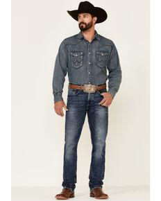 Wrangler 20X Men's Shore Medium Wash Stretch Slim Straight Jeans , Blue, hi-res
