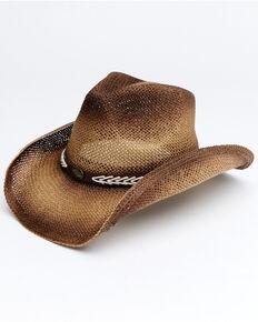 Shyanne Women's Tan Lucia Straw Drifter Western Hat , Tan, hi-res