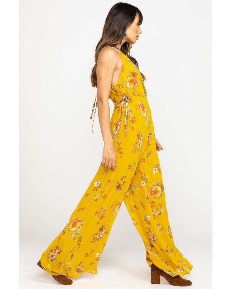 Free people Women's Mustard Georgia Jumpsuit, Dark Yellow, hi-res