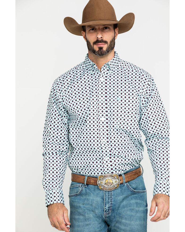 Ariat Men's Kaleb Stretch Aztec Geo Print Long Sleeve Western Shirt - Big , Multi, hi-res