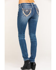 Miss Me Women's Quilted Light Wash Skinny Jeans, Blue, hi-res