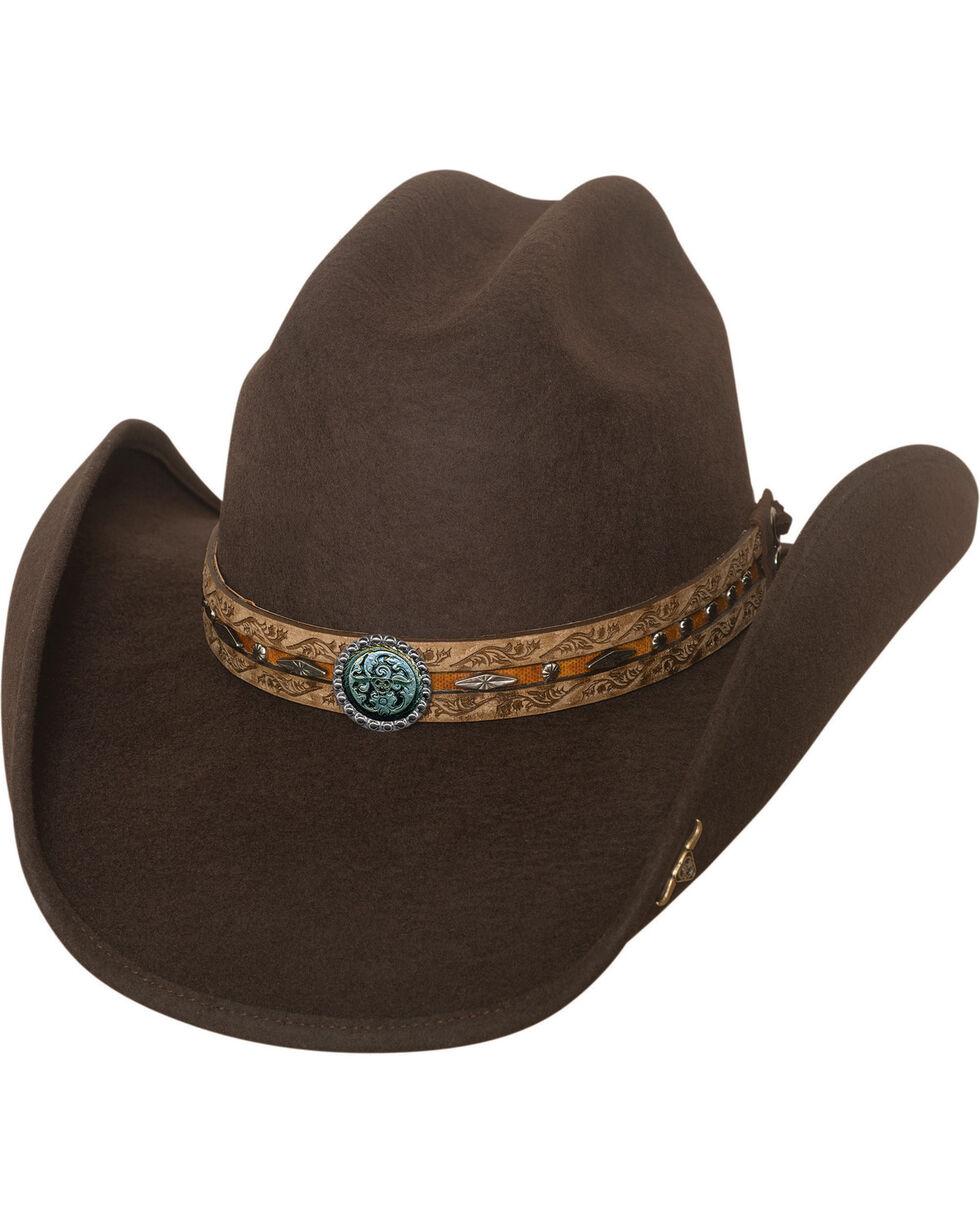 Bullhide Been In The Sun Wool Felt Cowboy Hat , Chocolate, hi-res