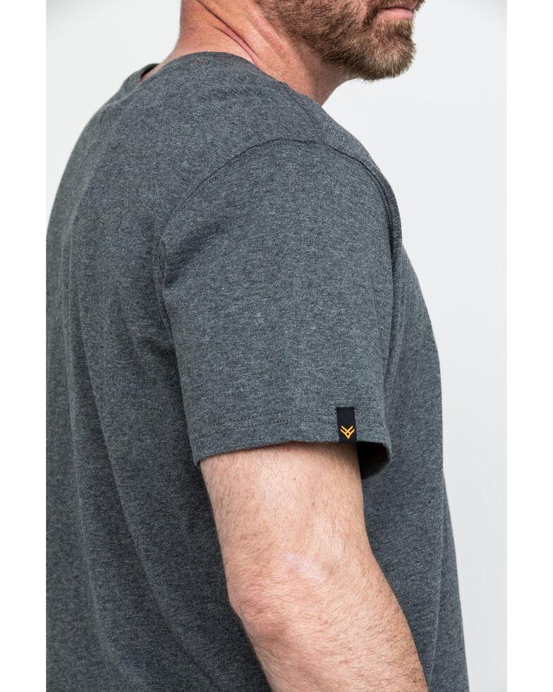 Hawx Men's Pocket Crew Short Sleeve Work T-Shirt - Tall , Charcoal, hi-res