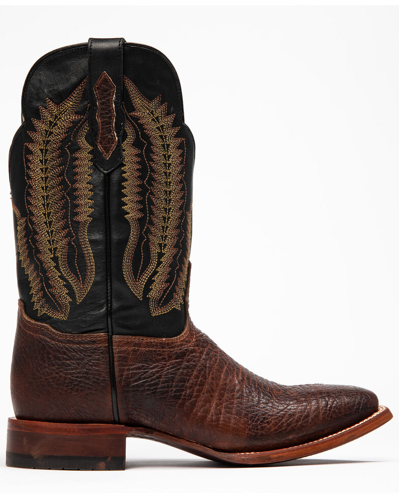 Cody James Men's Brown Buck Western Boots - Wide Square Toe, Black/brown, hi-res