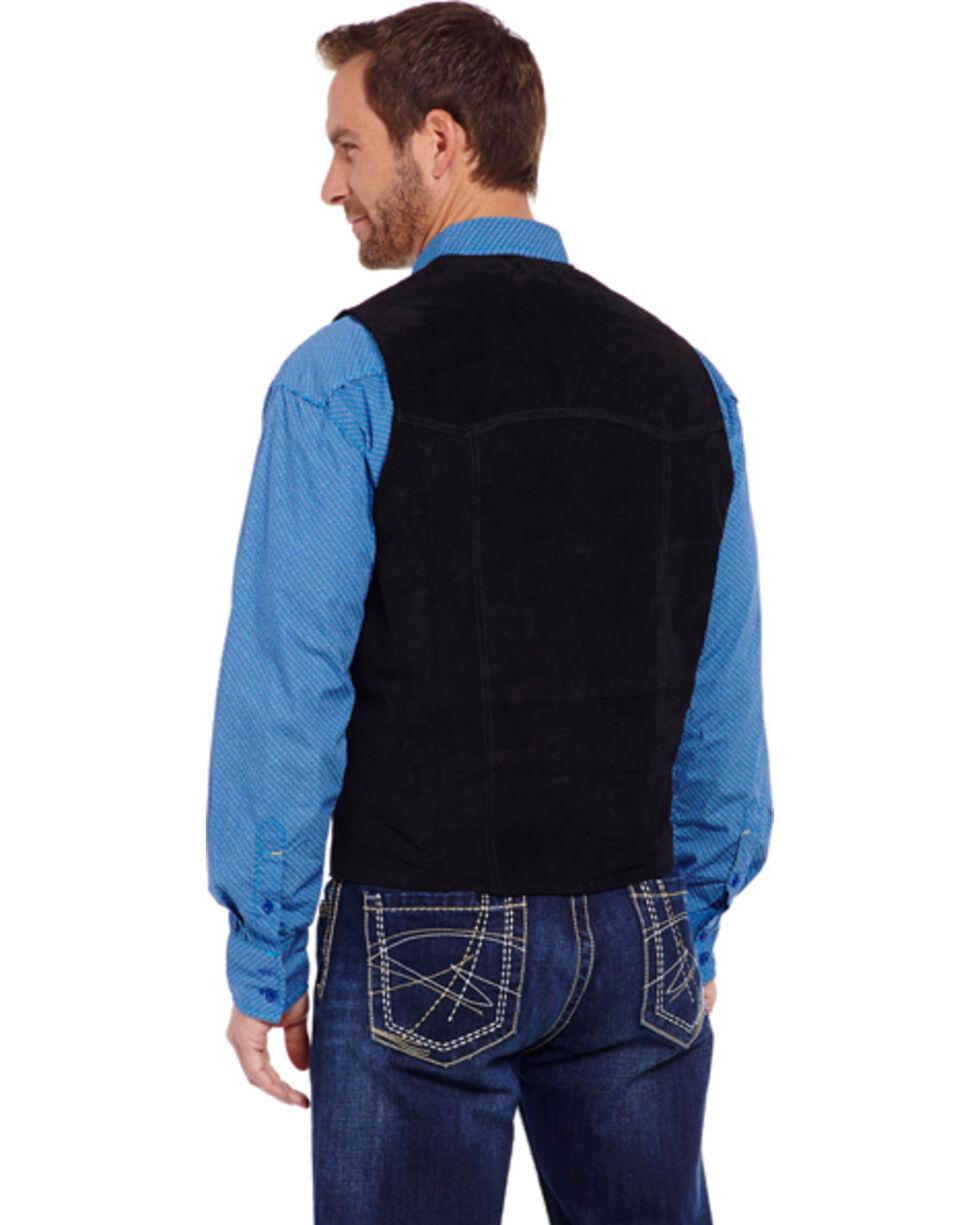 Cripple Creek Men's Suede Leather Vest, Black, hi-res