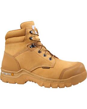 "Carhartt Men's 6"" Wheat Waterproof Rugged Flex Work Boots - Round Toe, Wheat, hi-res"