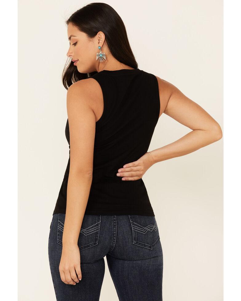 Idyllwind Women's Hot Mess Lace-Up Tank Top , Black, hi-res