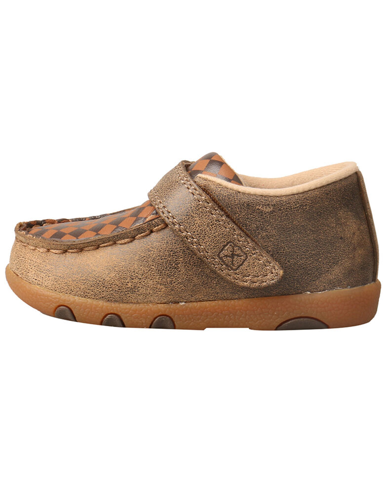 Twisted X Infant Boys' Driving Moc Shoes - Moc Toe, Brown, hi-res