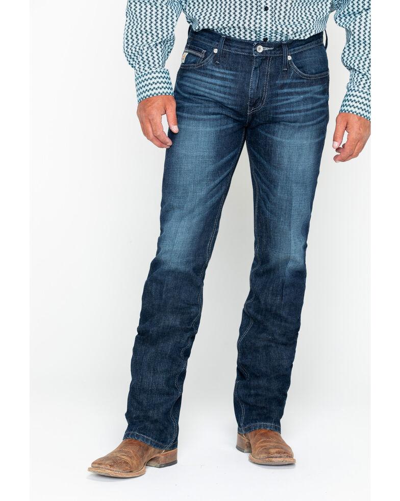 Cinch Men's Ian Dark Slim Bootcut Jeans, Indigo, hi-res