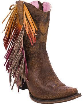 Junk Gypsy by Lane Women's Brown Spirit Animal Boots - Snip Toe , Brown, hi-res