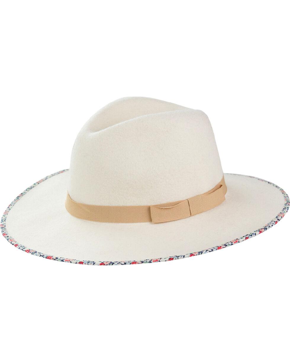 Peter Grimm Women's Farm Wool Felt Floral Hat, Grey, hi-res