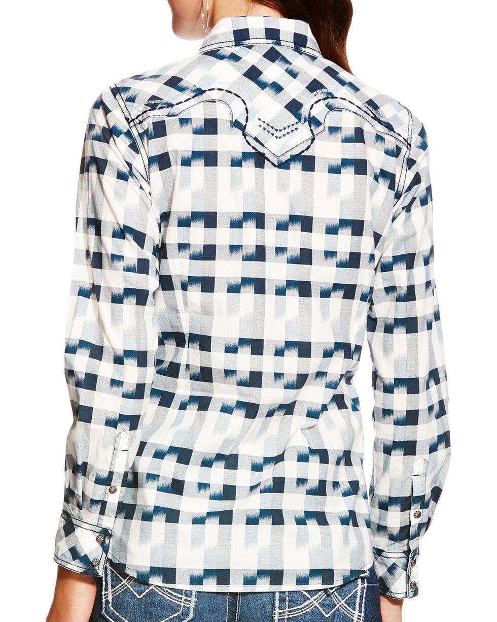 Ariat Women's Lana Ikat Print Long Sleeve Snap Shirt, Multi, hi-res