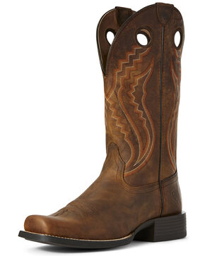 Ariat Men's Sorrel Sport Picket Line Western Work Boots - Square Toe, Brown, hi-res