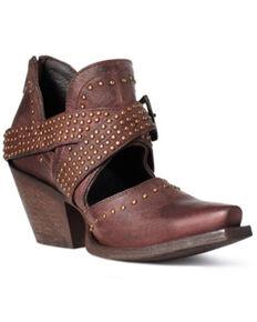 Ariat Women's Dixon Rock N Roll Fashion Booties - Snip Toe, Brown, hi-res