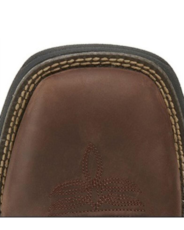 Justin Men's Stampede Fiesta Western Work Boots - Square Toe, Brown, hi-res