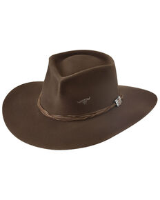 Bullhide Chocolate Brown Outlaw Trouble Wool Felt Western Hat, Chocolate, hi-res