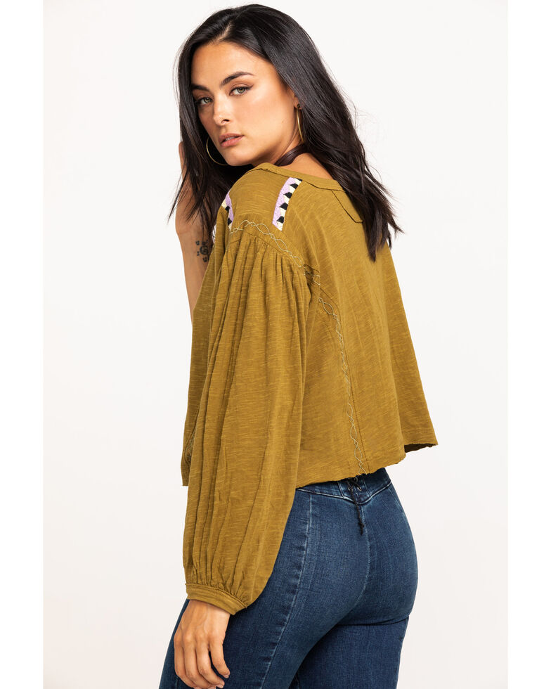 Free People Women's Hand Me Down Top, Olive, hi-res