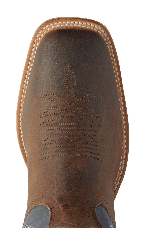 Boulet Stockman Cowboy Boots - Wide Square Toe, Chestnut, hi-res