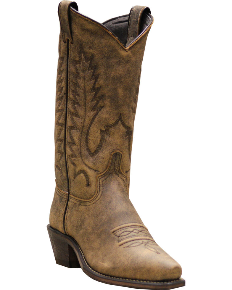 Abilene Boots Women's Covered Wagon Western Boots - Snip Toe, Beige, hi-res