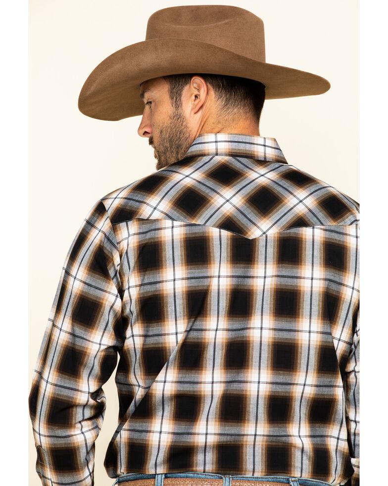 Ely Cattleman Men's Khaki Plaid Long Sleeve Western Shirt , Beige/khaki, hi-res