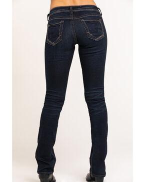 Silver Women's Suki Curvy Mid-Rise Slim Boot Cut Jeans, Blue, hi-res