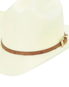Larry Mahan Men's 30X Corona Buttercup Straw Hat, Ivory, hi-res