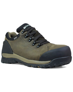Bogs Men's Brown Foundation Waterproof Work Boots - Composite Toe, Brown, hi-res