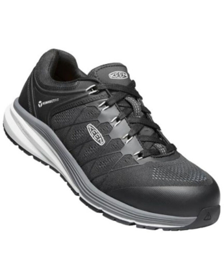 Keen Men's Black Vista Energy Work Shoes - Carbon Toe, Black, hi-res