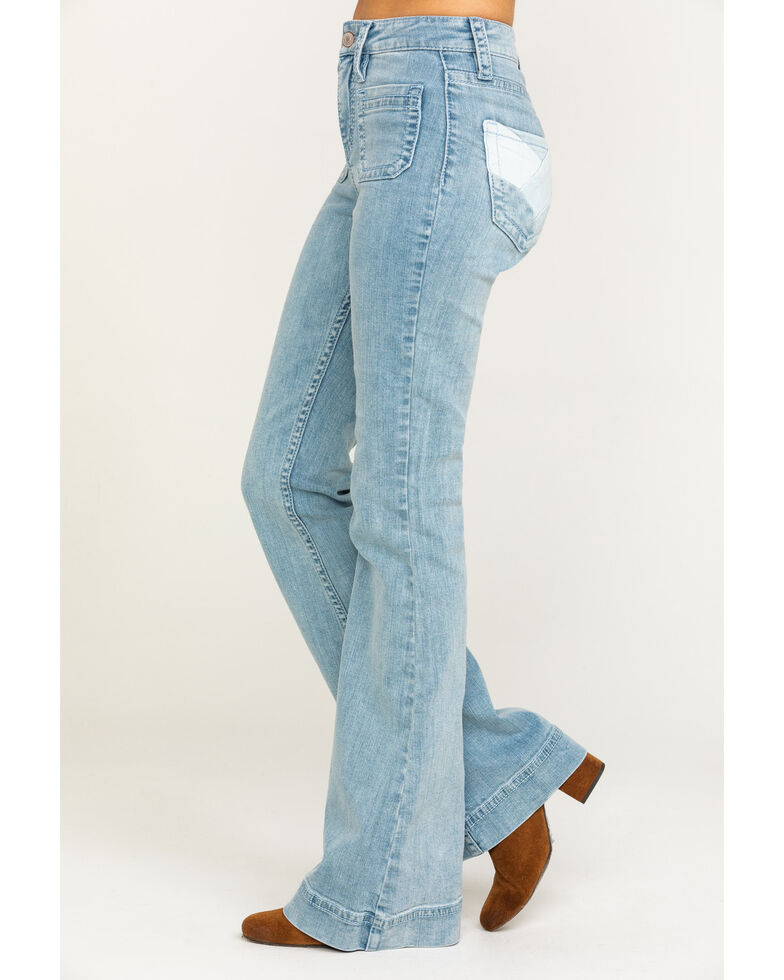 Shyanne Women's Light Wash Party Time High Rise Flare Jeans, Blue, hi-res