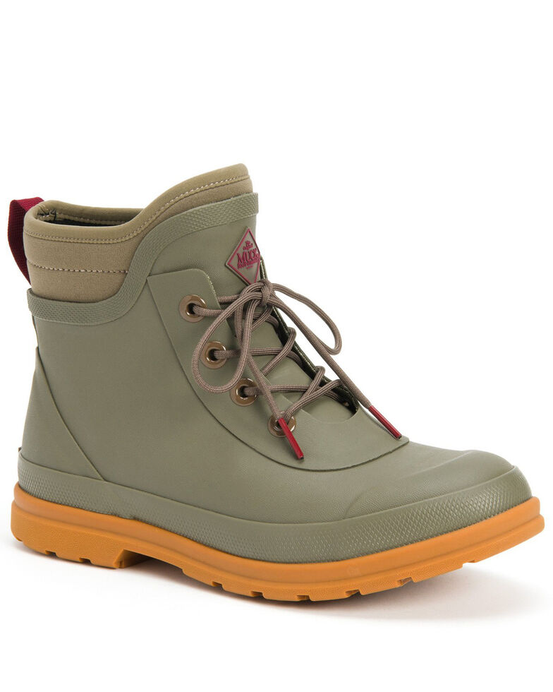 Muck Boots Women's Muck Originals Lace-Up Rubber Boots - Round Toe, Taupe, hi-res