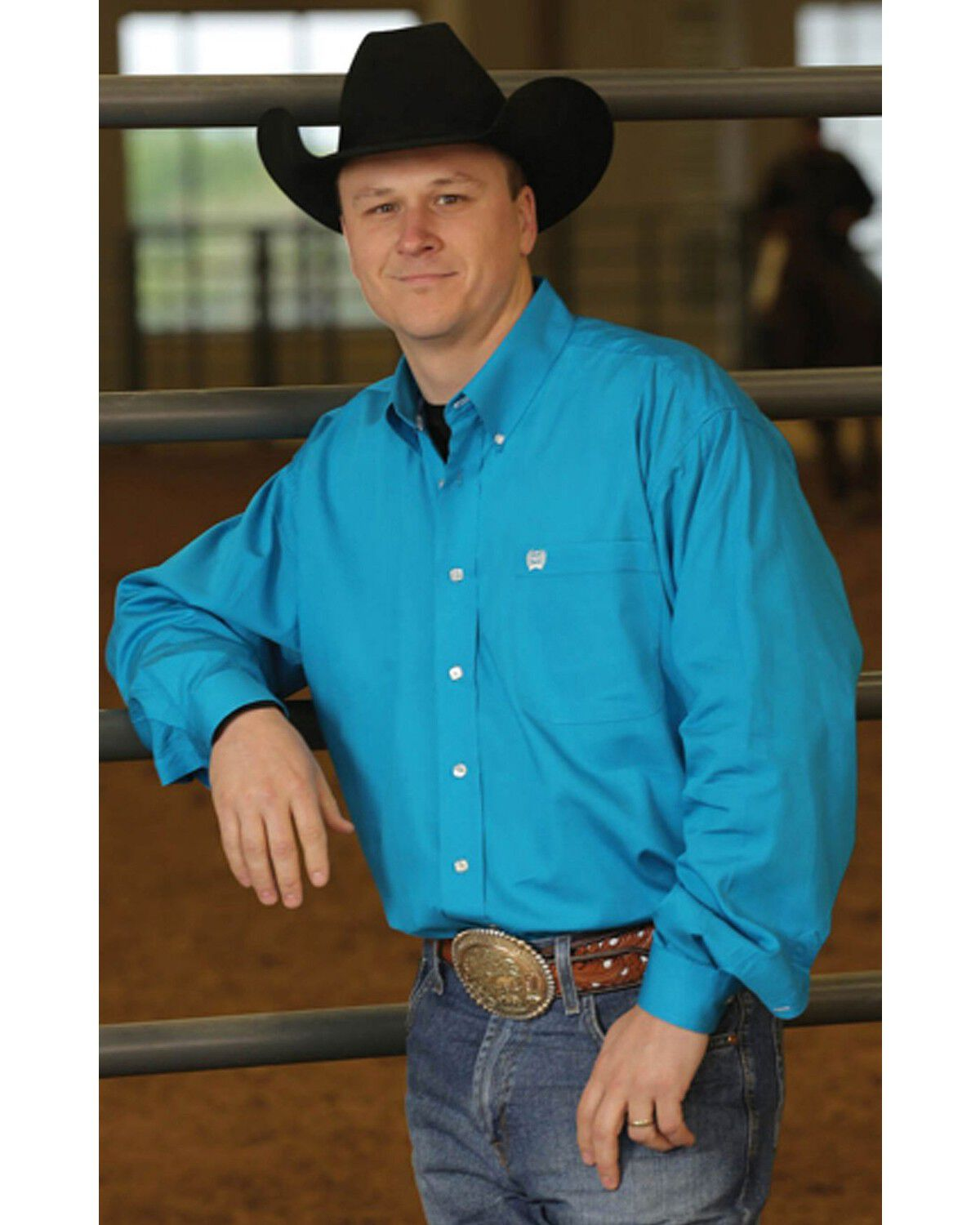 Cinch Long Sleeve Button-Down Solid